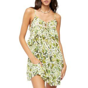 Free People Take Me With You Floral Mini Dress S